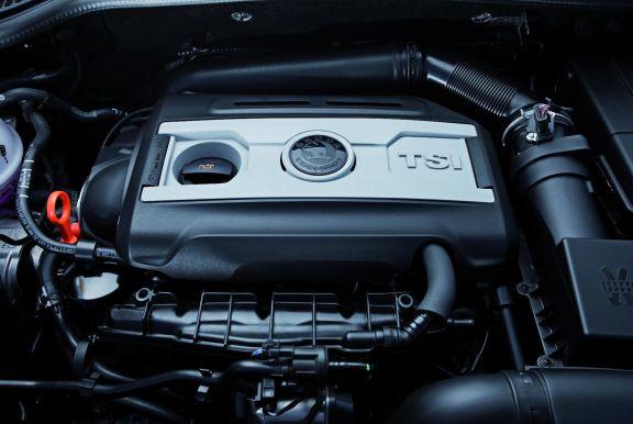 Engine shot of the Skoda Yeti
