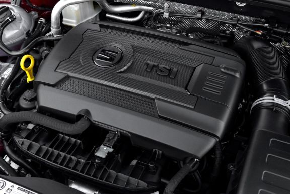 Engine shot of the Seat Leon