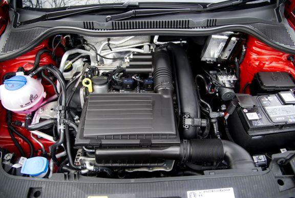 Engine shot of the Seat Ibiza